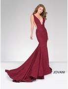 Jovani Jovani 47075, Color: Wine, Size: 12