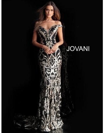 Jovani Jovani 63349, Color: Black/Gold, Size: 12