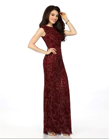 Envious Envious Prom Sequence Lace 18123, Color: Maroon, Size: 8