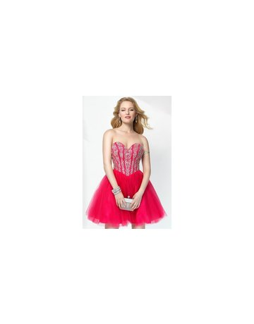 Alyce Alyce Dress Beaded Corset ALY-1133 Color: Hot Pink Size: 8