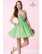 Alyce ALYCE DRESS CHIFFON SEQ-ALY-3641 COLOR: MINT-SIZE 12