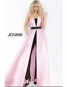 Jovani Jovani 1799 Color: Light Blue/ Black, Size: 8