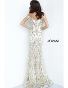 Jovani Jovani 63349 Color: White/Gold, Size: 10
