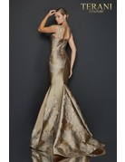 Terani Couture Terani 2011E2056 Color: Bronze, Size: 12