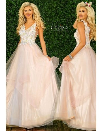 Envious Couture Envious Couture E1413 Color: Baby Pink/Multi, Size: 12