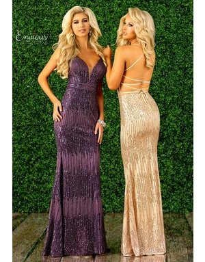 Envious Couture Envious Couture E1418 Color: Purple, Size: 4