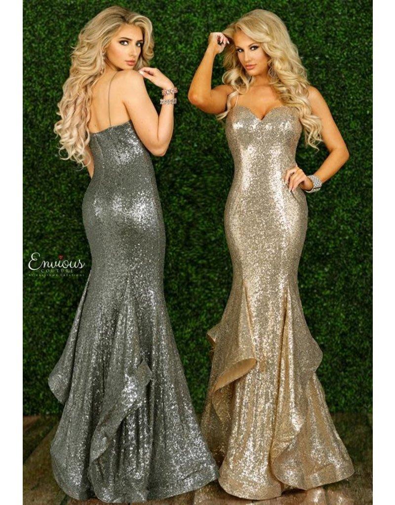 Envious Couture Envious Couture E1434 Color: Gold, Size: 8