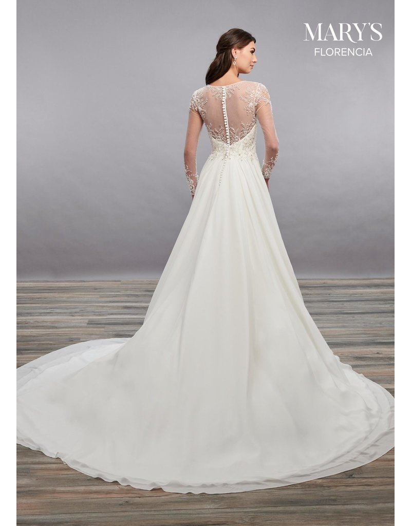 Mary's Bridal Marys MB3097 color: White, Size: 16