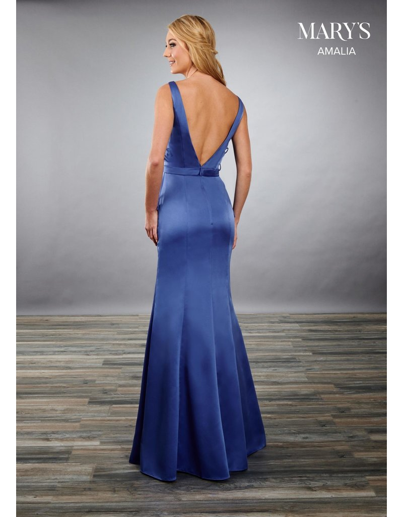 Mary's Bridal Mary's Bridal MB7082 Color: Corn Flower, Size: 12