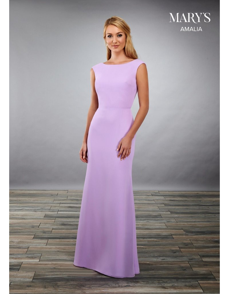 Mary's Bridal Mary's Bridal MB7075 Color: Violet, Size: 6