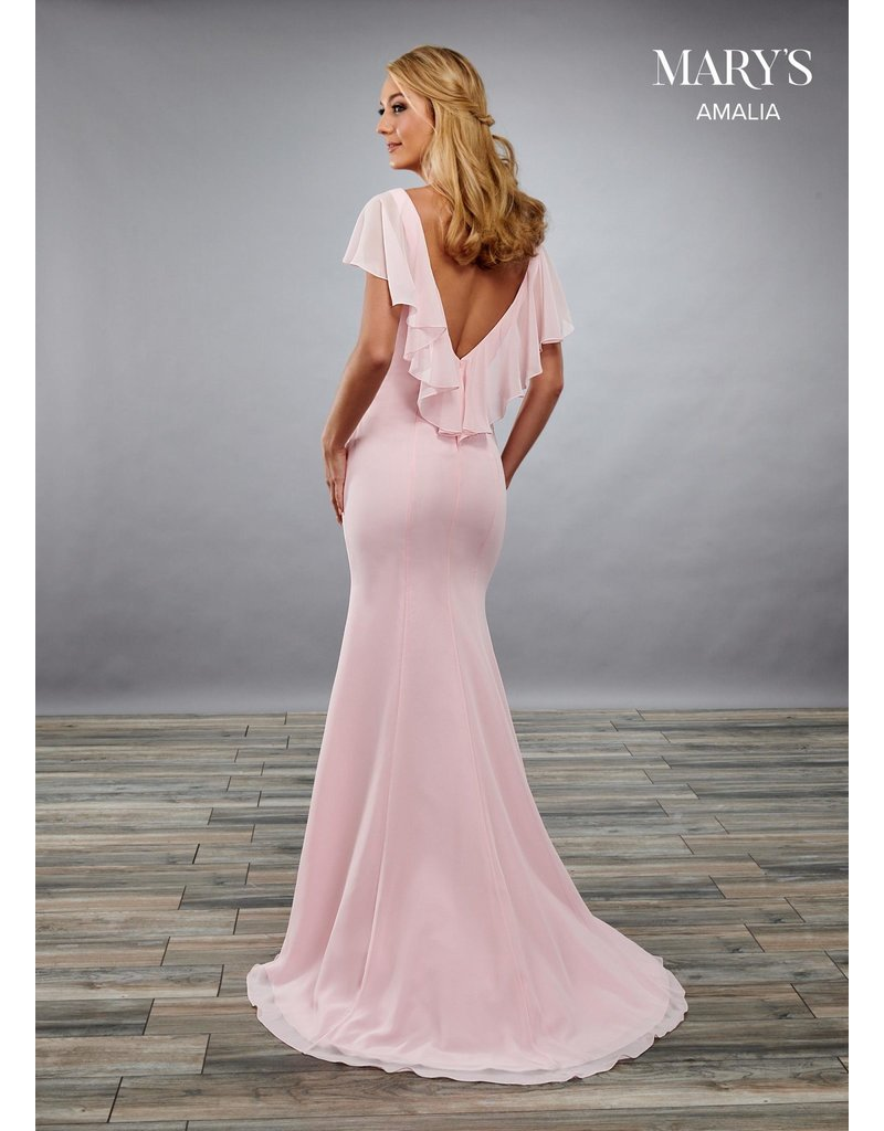 Mary's Bridal Mary's Bridal MB7068 Color: Pink, Size: 14