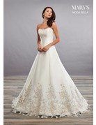 Mary's Bridal Mary's Bridal MB2081 Color: Ivory/Metallic, Size:12