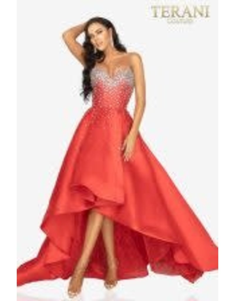 Terani Couture Terani Couture 2012P1286 color: Red, Size: 12