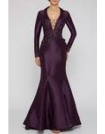 Terani Couture Terani Couture 2011M2458 color: Grape, Size: 14