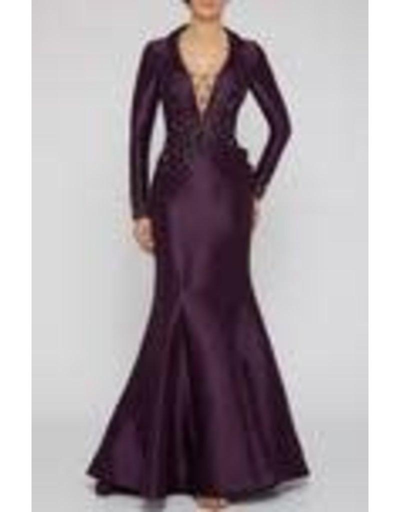 Terani Couture Terani Couture 2011M2458 color: Grape, Size: 14