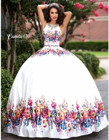 Camila Q Camila Q17041 Color: Royal/Multi, Size 18