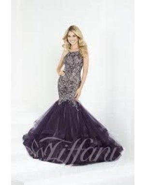 tiffany Design Tiffany Design 16280 Color: Plum/Champagne, Size: 8