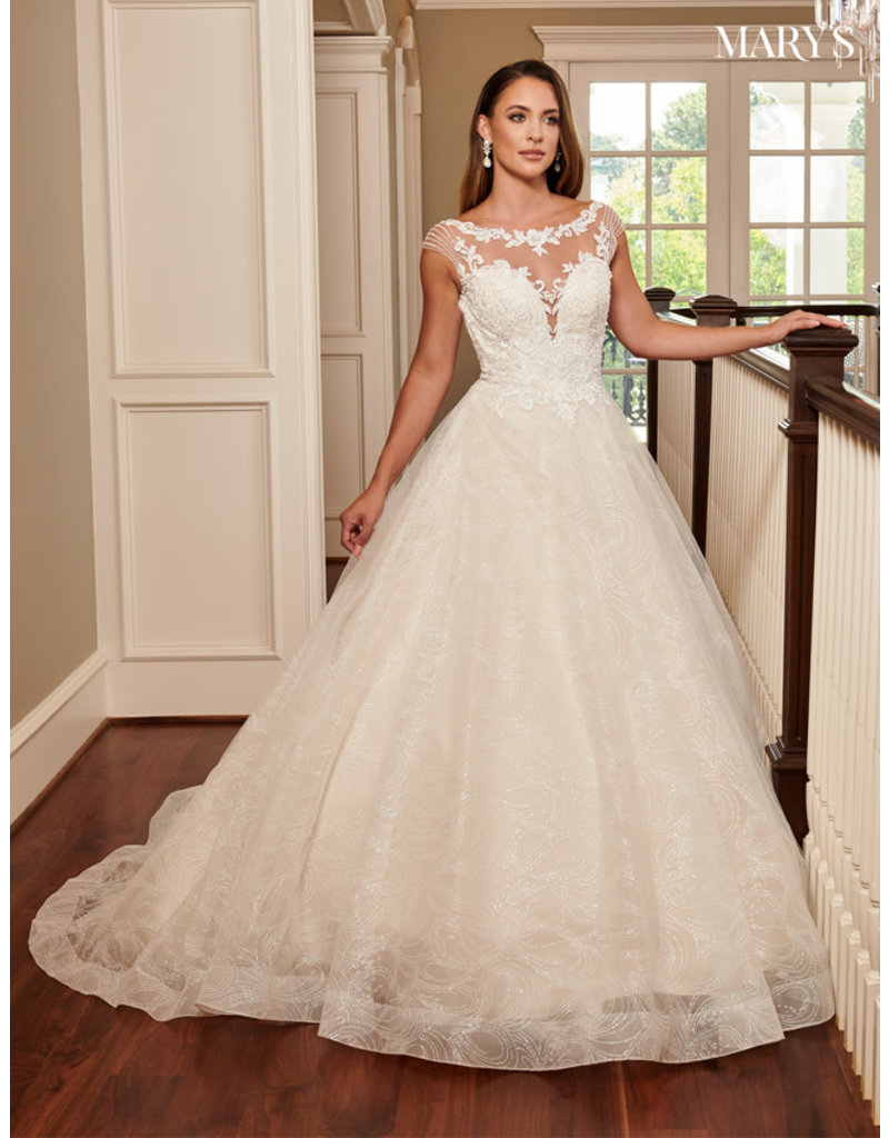 Mary's Bridal Mary's Bridal MB6058 Color: Ivory, Size: 12