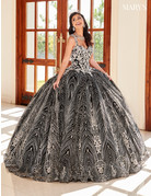 Mary's Quince Mary's Quince MQ1067 Color: Black/Silver, Size: 12