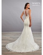 Mary's Bridal Mary's Bridal MB2080 Color: White, Size: 8
