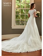Mary's Bridal Mary's Bridal MB2084 Color: White, Size: 14