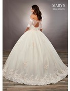 Mary's Bridal Mary's Bridal MB6060 Color: White, Size: 14