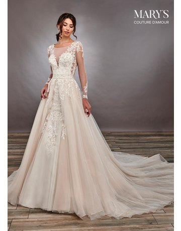 Mary's Bridal Mary's Bridal MB4081 Color: Ivory, Size: 14