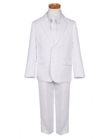 Rafael Rafael Slim Fit Suit BY018-3A Color: White, Size: 8