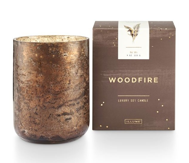Illume® Illume Woodfire Small Luxe Sanded Mercury Glass Candle