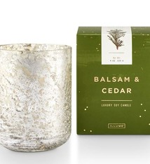 Illume® Illume Balsam & Cedar Small Luxe Sanded Mercury Glass Candle