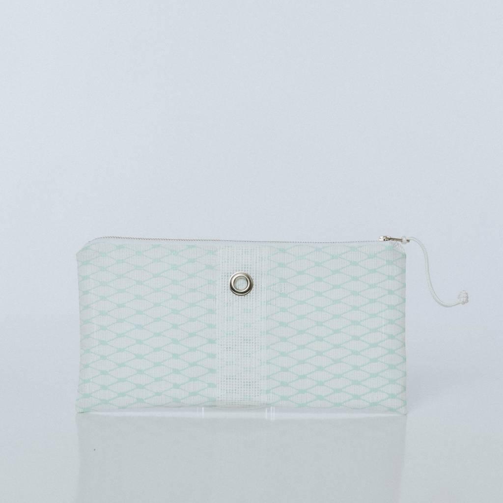 Alaina Marie ® Mint & White Clutch