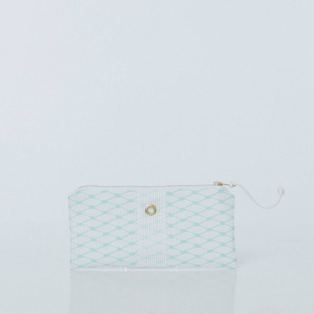 Alaina Marie ® Soothing Sea & White Mini Clutch