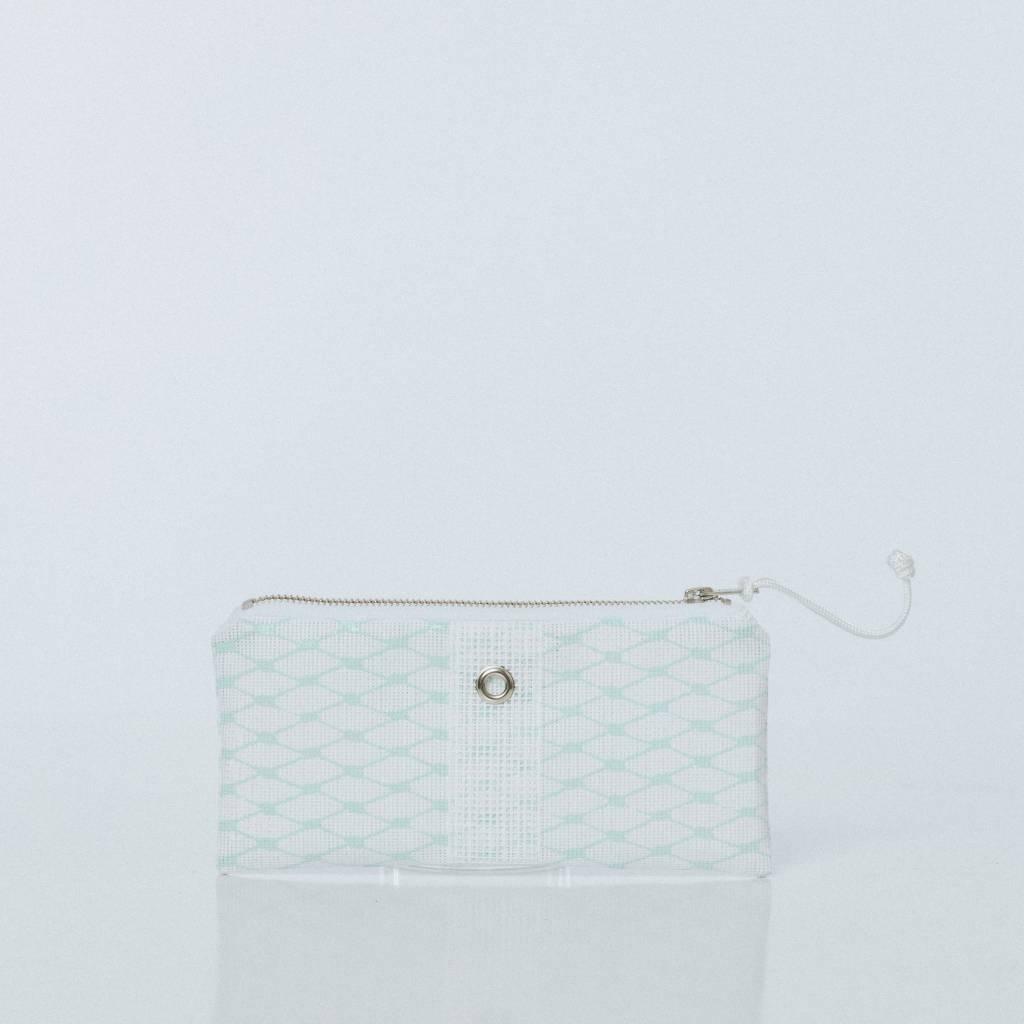 Alaina Marie ® Mint & White Mini Clutch