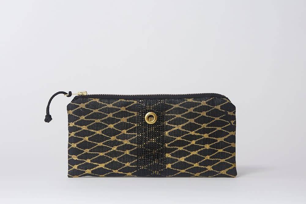 Alaina Marie ® Gold on Black & Black Mini Clutch