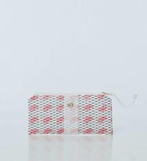 Alaina Marie ® Mini Pink Claw & White Mini Clutch