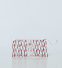 Alaina Marie ® Pink Claw & White Mini Clutch