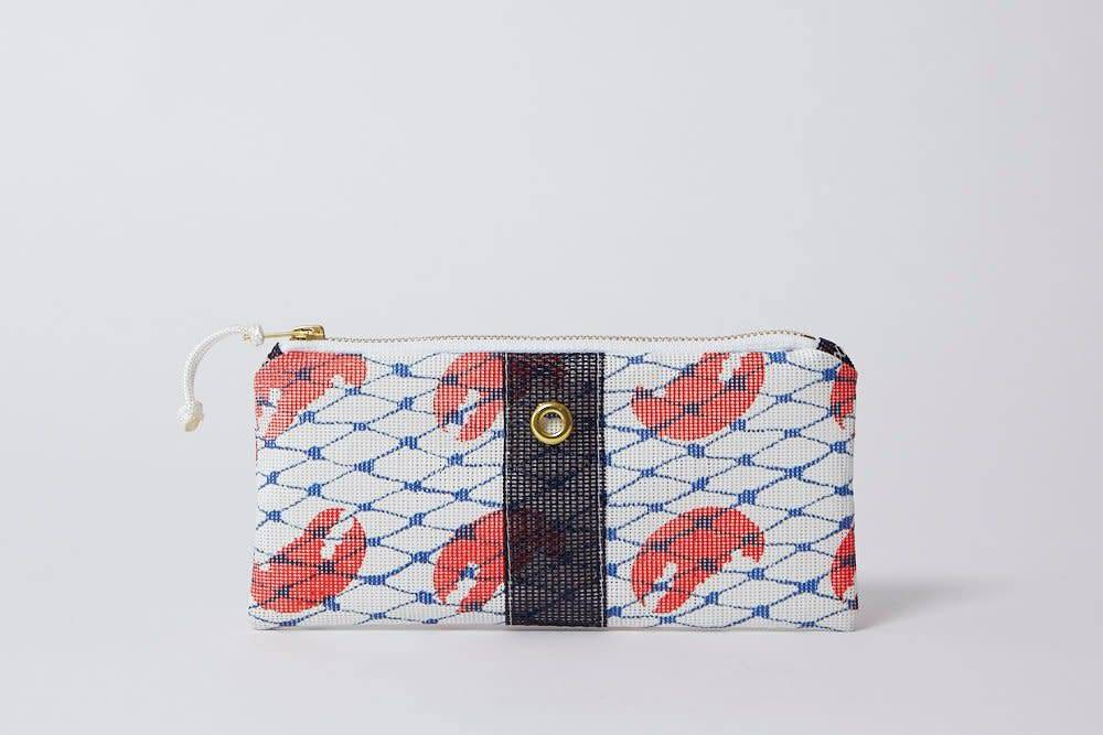 Alaina Marie ® Red Claw & Navy Mini Clutch