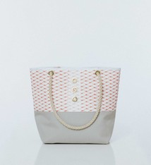 Alaina Marie ® Lobster Bisque & White Tote