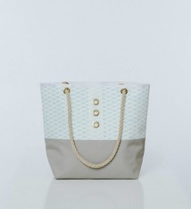 Alaina Marie ® Soothing Sea & White Tote