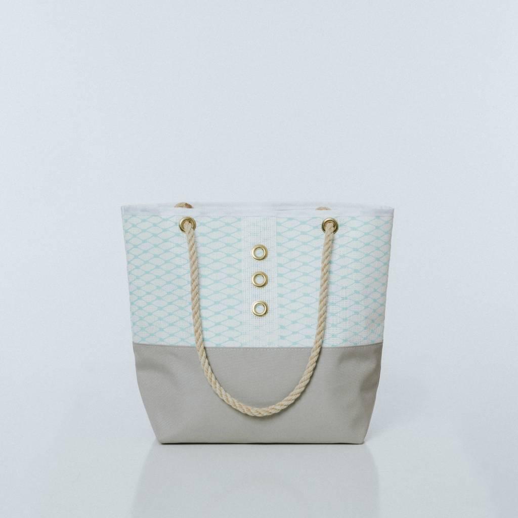 Alaina Marie ® Soothing Sea & White Tote
