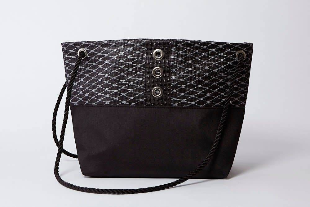 Alaina Marie ® Silver on Black & Black Tote