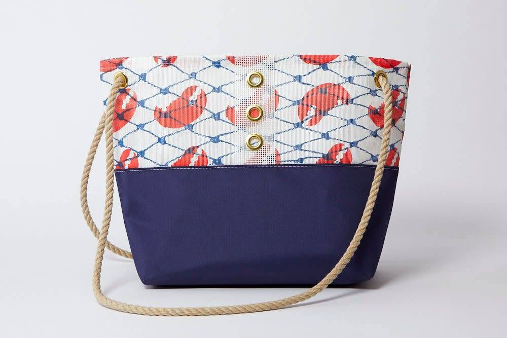 Alaina Marie ® Red Claw & White Tote