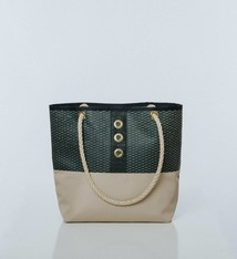 Alaina Marie ® Mini Gold on Navy & Navy with Khaki Tote