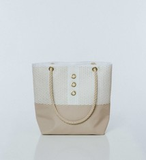 Alaina Marie ® Mini Gold on White & White Tote