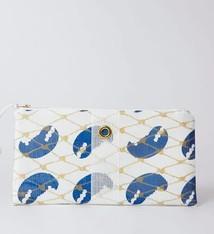 Alaina Marie ® Blue Claw & White Clutch