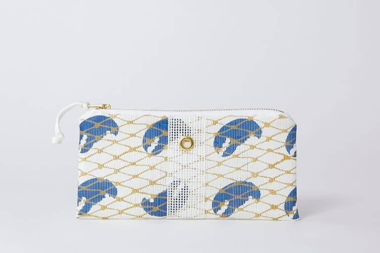 Alaina Marie ® Blue Claw & White Mini Clutch