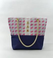 Alaina Marie ® Mini Pink Claw & White Tote
