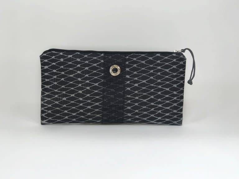 Alaina Marie ® Silver on Black & Black Clutch