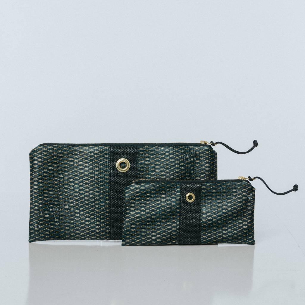 Alaina Marie ® Mini Gold Metallic on Navy & Navy Clutch