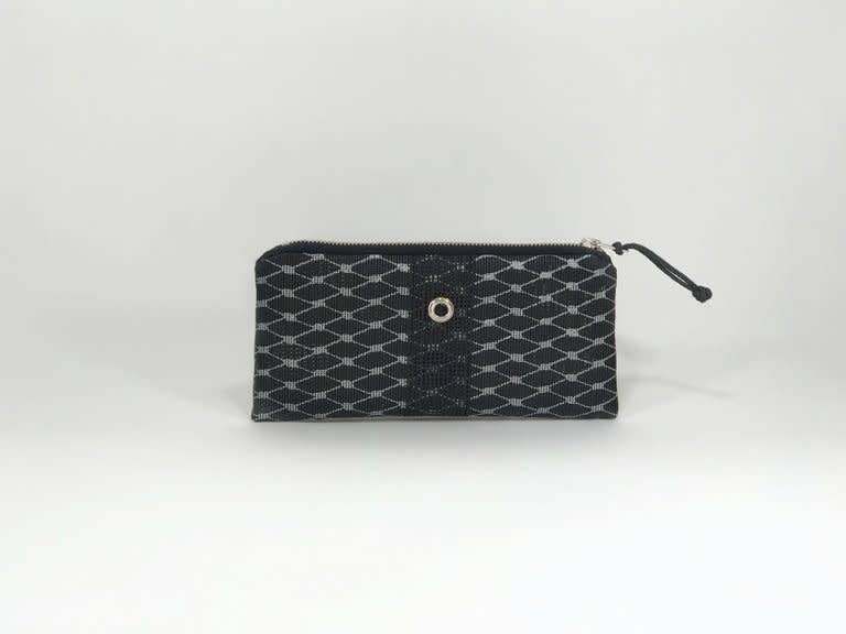 Alaina Marie ® Silver on Black & Black Mini Clutch
